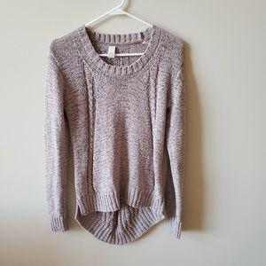 Prana Womens Gray Chunky Knit Sweater